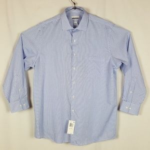 Van Heusen Mens Long Sleeve Button Front Shirt NWT